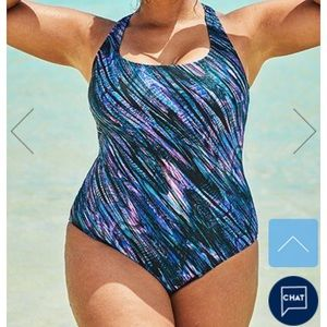 GALAXY X-BACK ONEPIECE SWIMSUIT CHLORINE RESISTANT